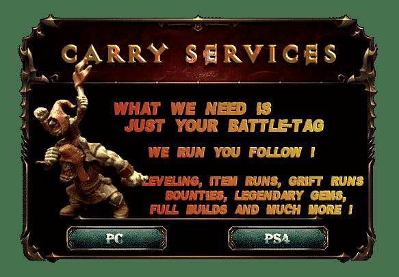 D3hell Carry services Diablo 3