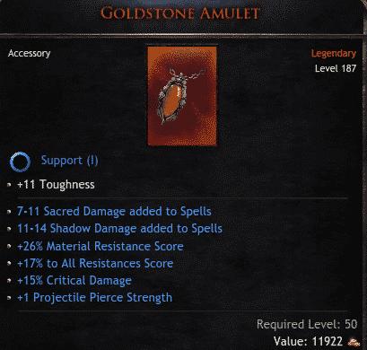 Goldstone Amulet
