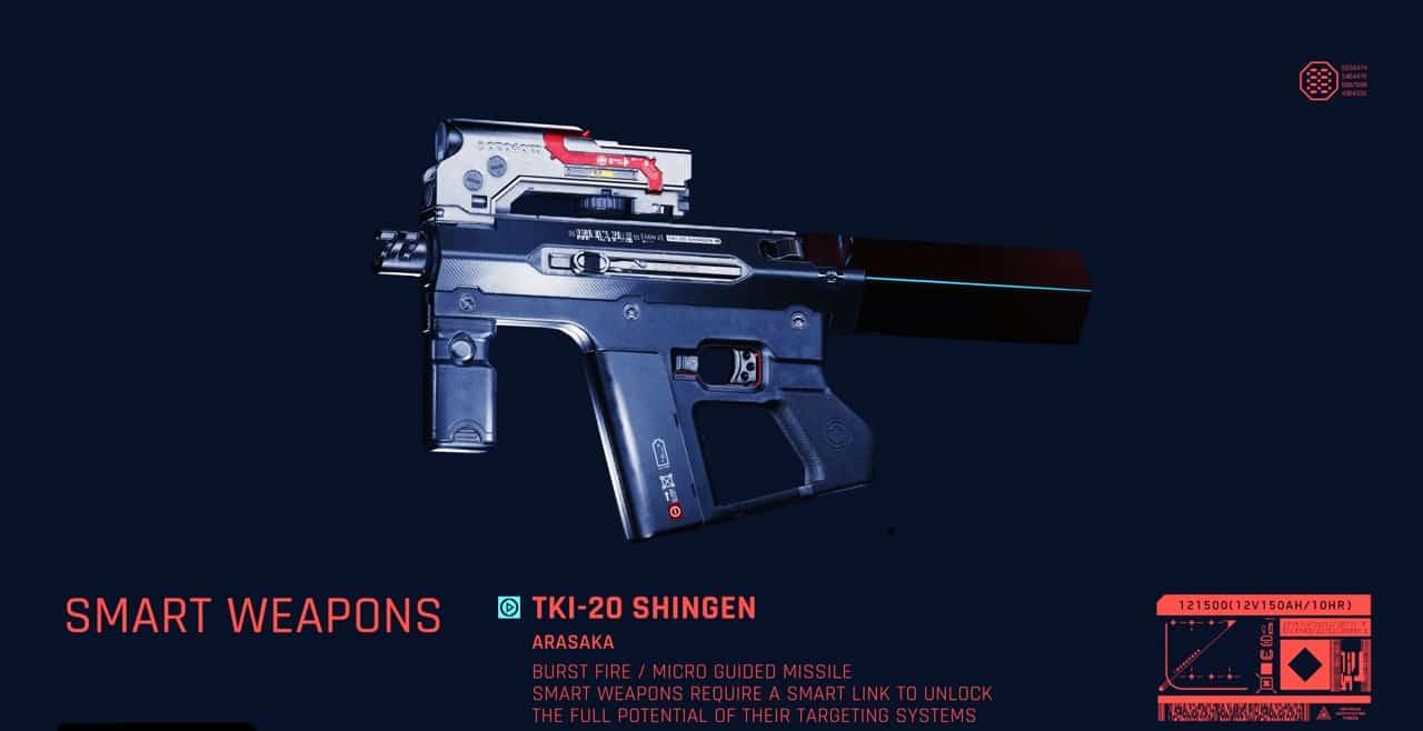 Smart Weapons Cyberpunk 2077 weapons guide