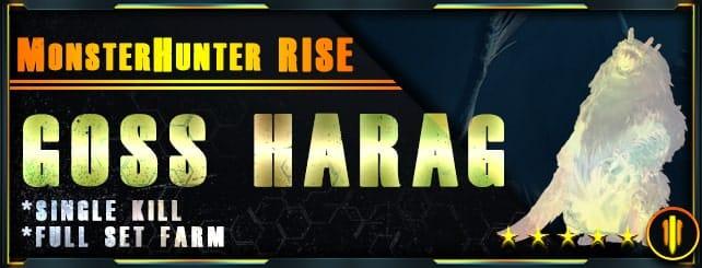 Monster Hunter Rise - Per Kill & Full set farm Goss Harag-min