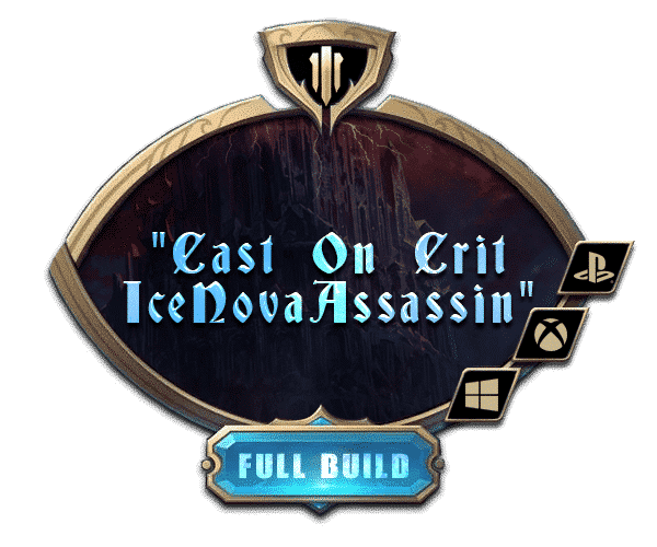 Path of Exile - Full Builds Farm - Cast On Crit Ice Nova Assassin-min