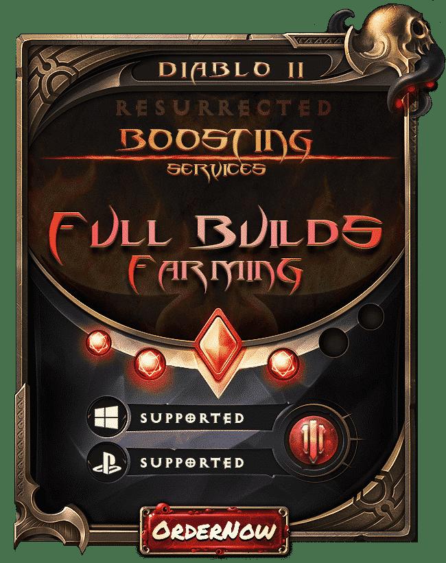 Diablo 2 Resurrected Boosting - Full Builds Farming-min