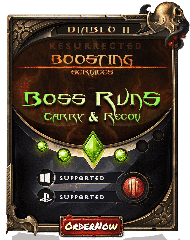 Diablo 2 Resurrected Boosting - Boss Runs Carry & Recov-min