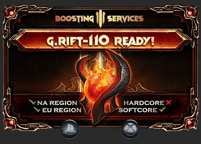 Diablo 3 Boosting - Greater Rift 110 Ready PS & Xbox-min