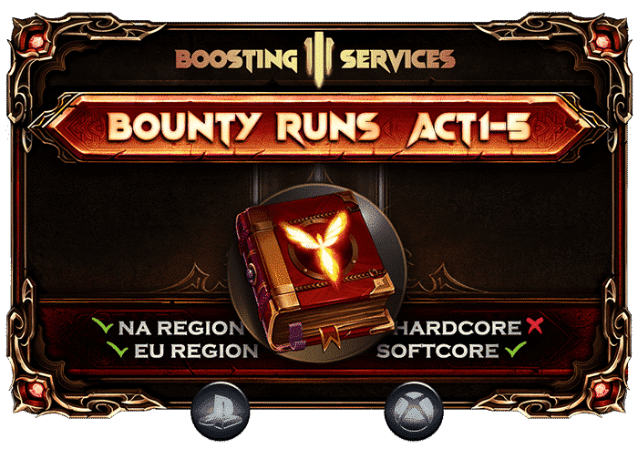 Diablo 3 Boosting Services - Bounty Runs Carry Xbox & PS-min