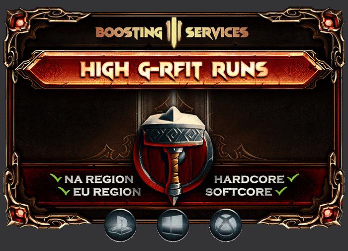 Diablo 3 Boosting Services - High G-Rift Runs-min