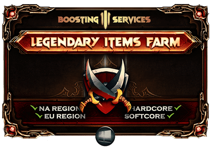 Diablo 3 Boosting Services - Legendary Items Farm-min