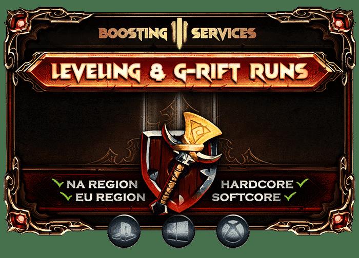 Diablo 3 Boosting Services - Leveling & Grift Rift Runs-min