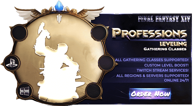 Final Fantasy XIV Boosting Services - Gathering Professions Leveling-min